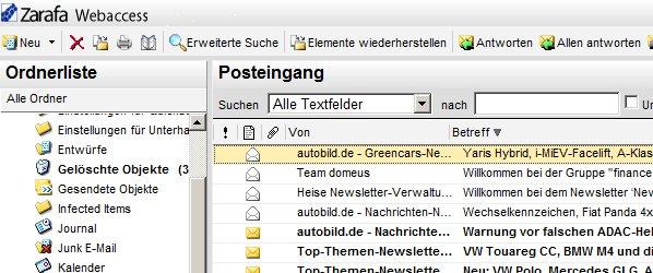 MailStore und Zarafa Update in unserem DemoCenter
