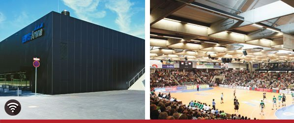 EWS Arena Göppingen - WLAN Technik