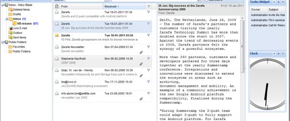 Zarafa WebApp 1.1 ist erschienen