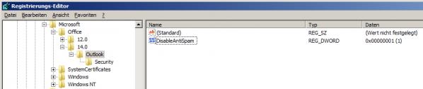 Registry Fenster