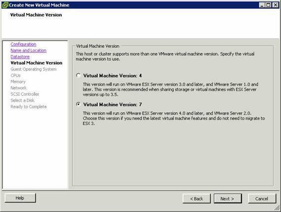 VMware Eigenschaftsmenü 2