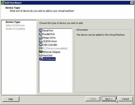 VMware Eigenschaftsmenü 9