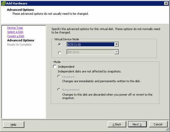 VMware Eigenschaftsmenü 10
