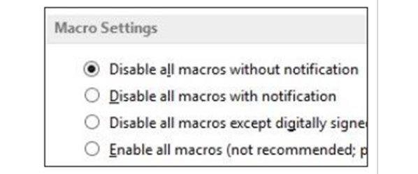 Makros deaktivieren